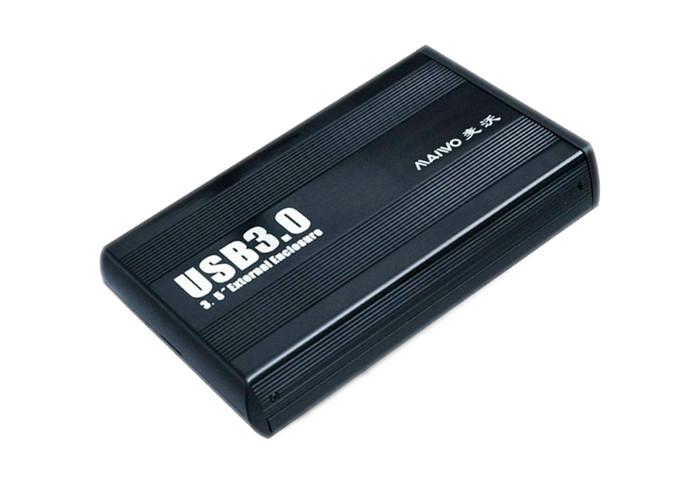 Карман внешний 3,5 Maiwo K3502-U3S black SATA через USB3.0 на винтах алюм. черн.