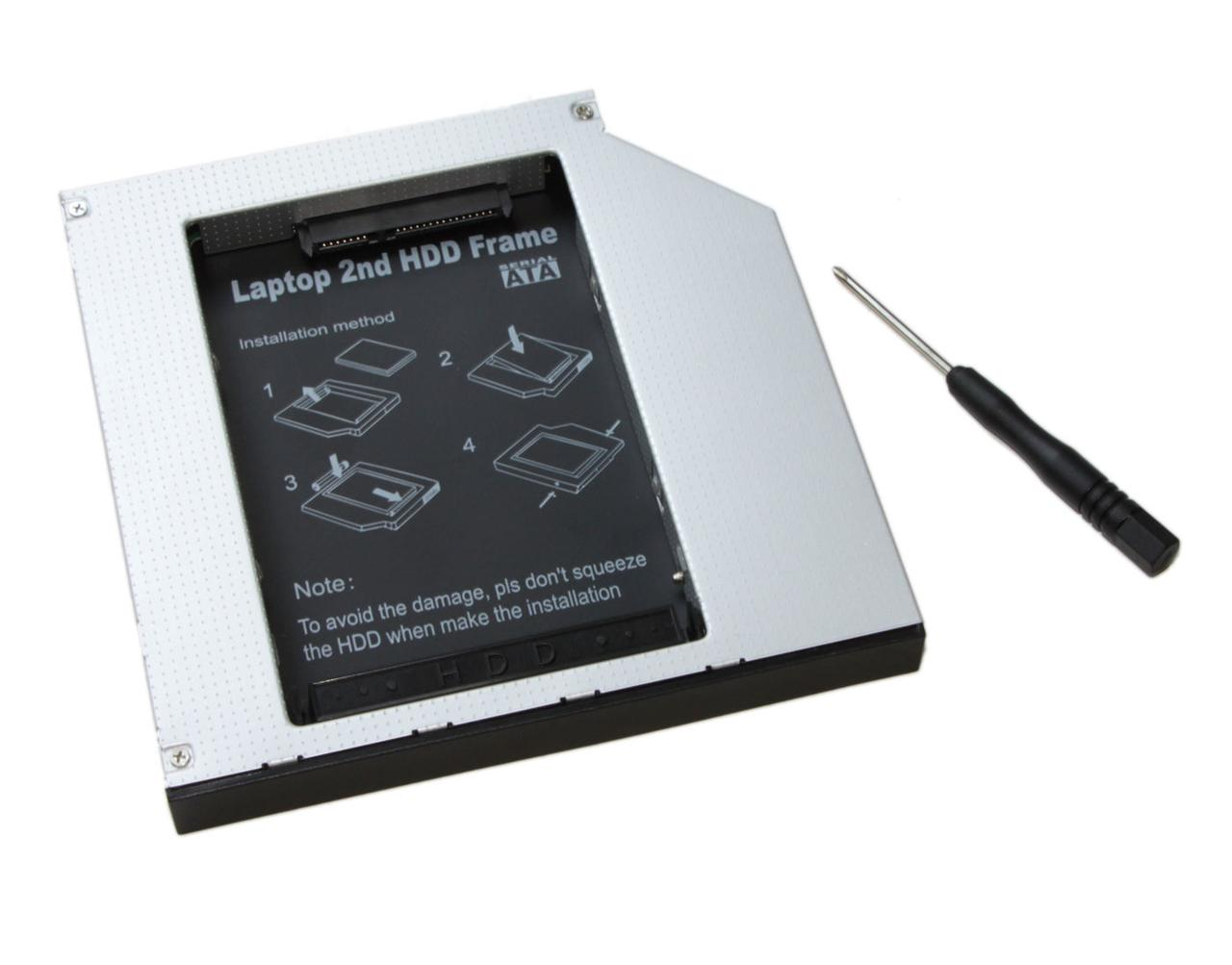 Шасси Maiwo NSTOR-12-IDE для подключ. 2,5 HDD/SSD SATA в отсек привода IDE толщ. 12,7 мм алюм