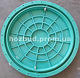 Люк канализационный 1т зеленый с замком, фото 2