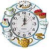 Часы настенные Чаепитие ( лепка )