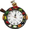 Часы настенные Чаепитие ( лепка ), фото 3