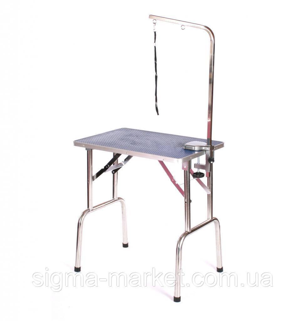 Столик трюмерский Blovi 70х48см с подставкой, синий верх