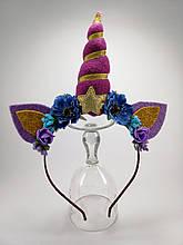 Обруч Единорог Украшение для волос фиолетовый