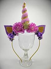 Обруч Единорог Украшение для волос сиреневый фиолетовый