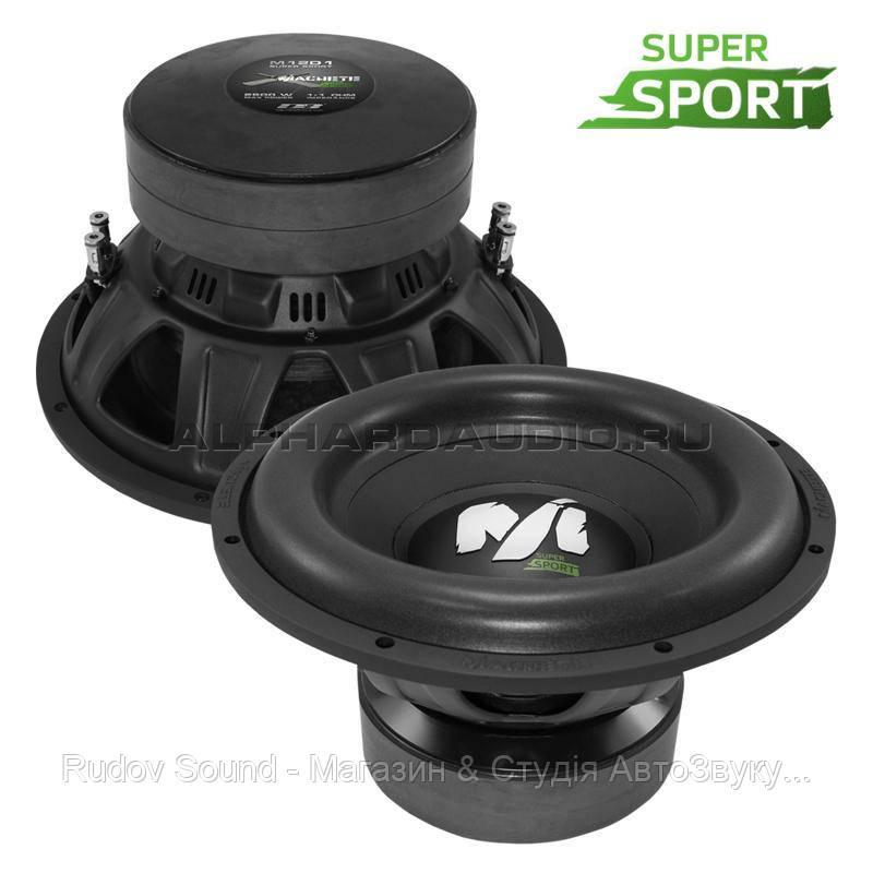 Сабвуфер Deaf Bonce Machete M12D2 Super Sport (12″ | 1300/2600w | 86db | 2+2Ω)