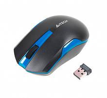 Мышь A4Tech G3-200N 1000dpi Black+Blue USB V-TRACK Wireless