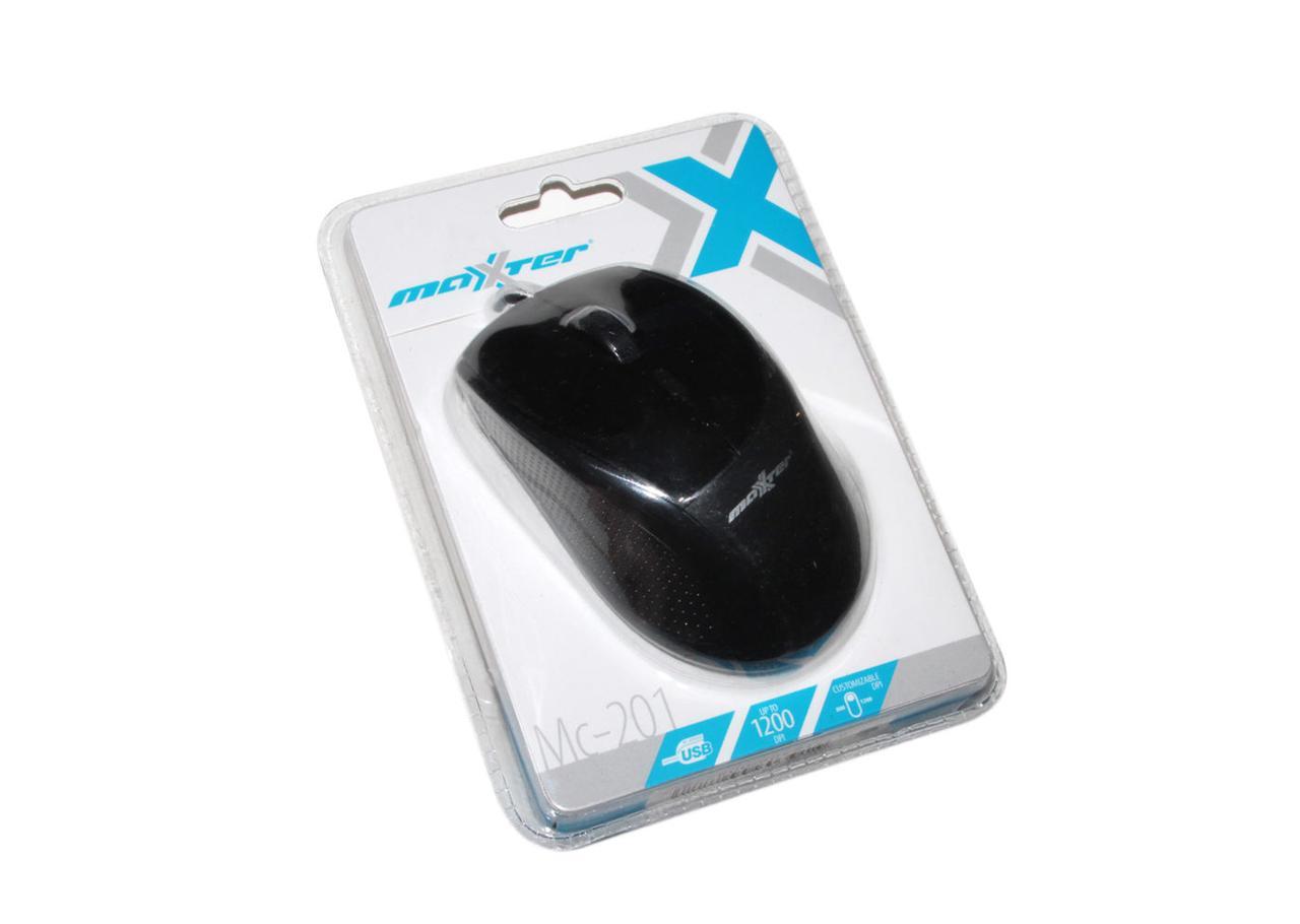 Мышь Maxxter Mc-201 оптическая USB Black