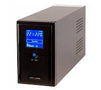ИБП LogicPower LPM-L1100VA 1000 ВА 770 Вт 2 розетки 5 ступ. AVR 2х12V/7,5Ah. черный корпус