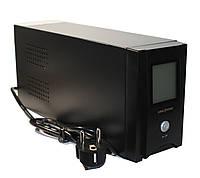 ИБП LogicPower UL650VA 390W 2 розетки 5 ступ. AVR 7.5Ач12В. черный пластиковый корпус