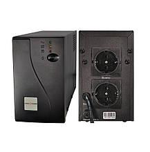 ИБП LogicPower LP-850VA 2 розетки 5 ступ. AVR 7.5Ач12В черный металлический корпус
