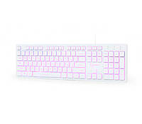 Клавиатура Gembird KB-UML3-01-W-RU 3-х цветная подсветка клавиш USB White
