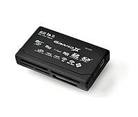 Card Reader внешний Grand-X All-in-One 64Gb to 2Tb SDXC CRX05Black