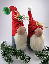 Скандинавський Гном Новорічний м'яка іграшка ручна робота
