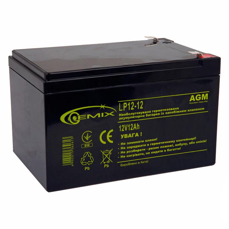 Батарея для ИБП 12В 12Ач Gemix LP12-12 151х98х95 мм