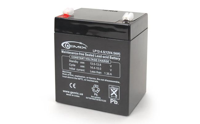 Батарея для ИБП 12В 4,5Ач Gemix LP12-4.5 90х70х101 мм