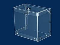 Коробка для сбора пожертвований 2,0л  145х135х100мм, Акрил прозр. 1,8мм