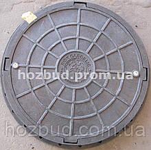 Люк каналізаційний 1т чорний з замком