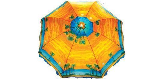 Зонтик пляжный с наклоном, ткань с защитой от УФ излучения