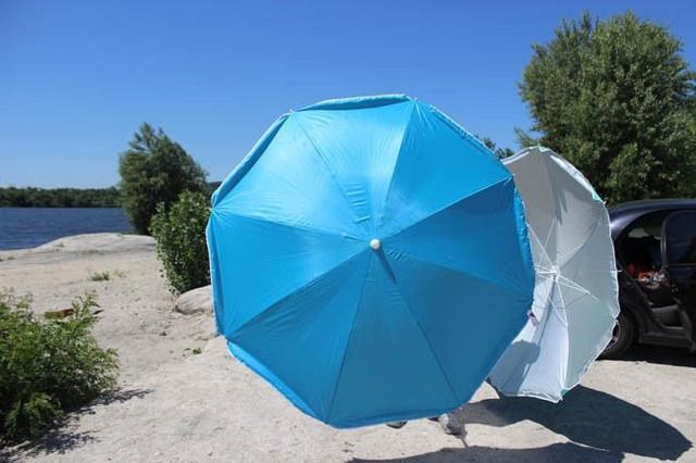 Пляжный зонт с клапаном UMBRELLA 220 см