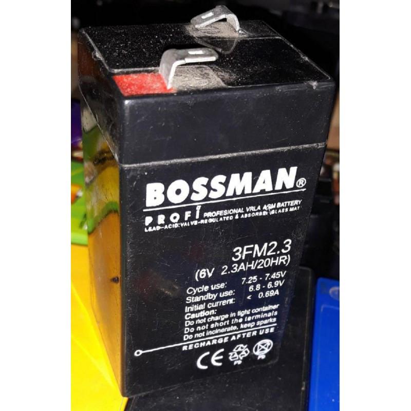 Аккумулятор 6V 2.3Ah Bossman profi 3FM2.3 - LA623