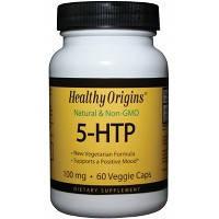 5-HTP (триптофан) 100 мг 60 капс Антидепрессанты, снотворное, препарат от стресса Healthy Origins USA