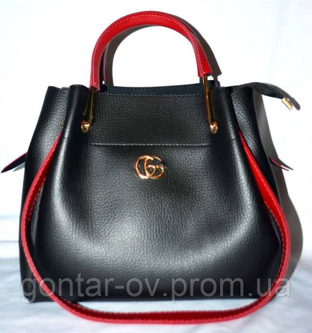 Сумка шоппер Gucci комплект черный с красным