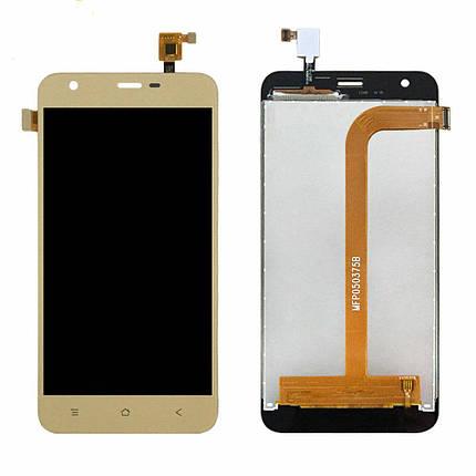 Дисплей (екран) для Blackview A7 з сенсором (тачскріном) золотистий, Champagne Gold Оригінал, фото 2
