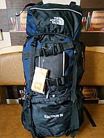 Рюкзак походный туристический The North Face 80 л. Синий.