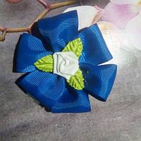 Резинка для волос,синяя