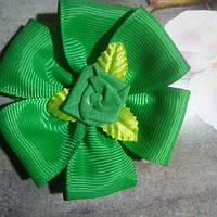 Резинка для волос,зеленая