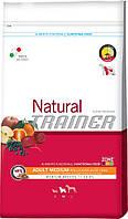 Trainer Natural Super Premium Adult Medium Con Pollo Fresco, Riso & Aloe Vera, с курицей, рисом и алоэ-вера, 12.5 кг.