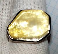 Кольцо с натуральным янтарем вес 20г размер 19