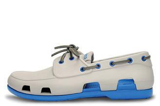 Оригинальные мужские сабо Crocs Beach Line Boat Grey Blue