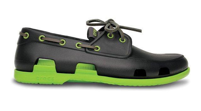 Оригинальные мужские сабо Crocs Beach Line Boat Dark Grey Green