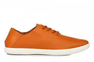 Оригинальные мужские мокасины ECCO Casual Blucher Orange | кеды екко кэжуал оранжевые