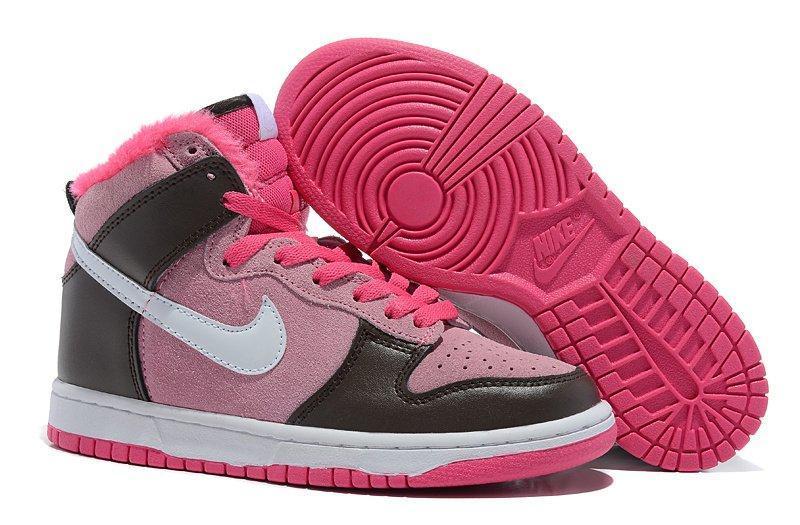 84d7efc8 Кроссовки женские Nike Dunk High с мехом 06W — купить в интернет ...
