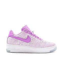 Кроссовки женские Nike Air Force 1 Low Flyknit Purple White найк аир форсе 1 лоу розовые