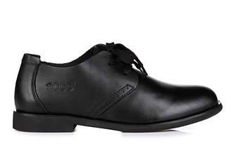 Оригинальные мужские туфли ECCO Cesual Derby Black | туфли екко кэжуал черные