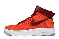 Оригинальные кроссовки женские Nike Air Force 1 Ultra Flyknit Red найк аир форсе 1 лоу красные