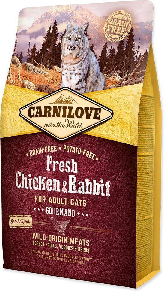 Carnilove Cat Fresh Chicken & Rabbit Gourmand 2кг - корм для кішок з куркою і кроликом
