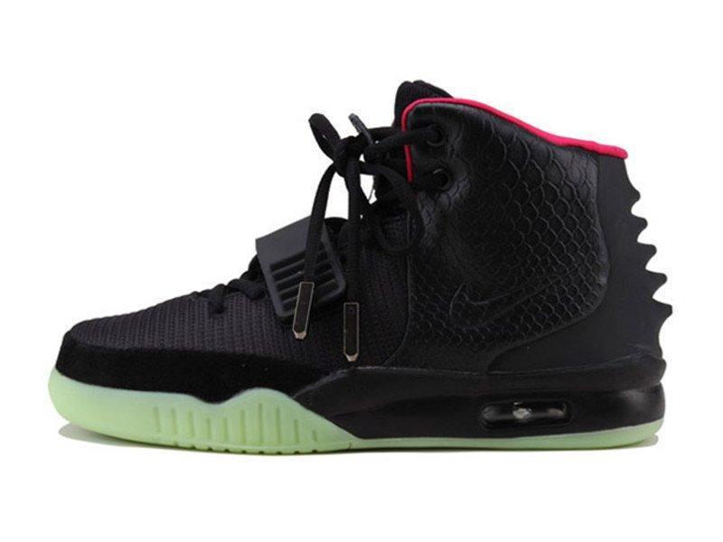 Оригинальные кроссовки женские Nike Air Yeezy 2 Black Pink