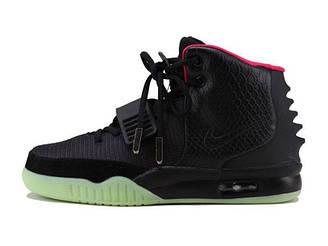 Кроссовки женские Nike Air Yeezy 2 Black Pink