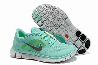 Кроссовки женские Nike Free Run Plus 3 Sea Blue  найк фри ран плюс