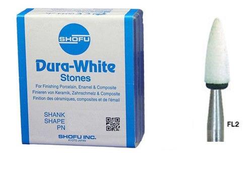 Shofu Dura-White FL2 (12 штук) шліфувальні камені для композитів і кераміки