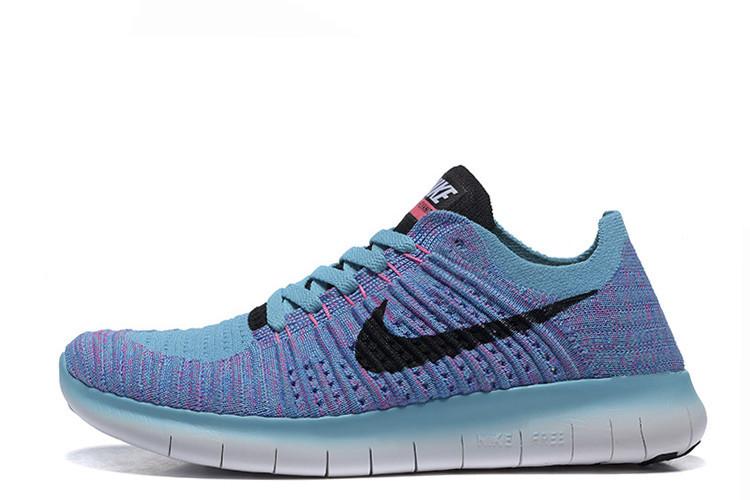 f4c3e683 Кроссовки женские Nike Free Run Flyknit 5.0 Magasin Blue найк фри ран плюс