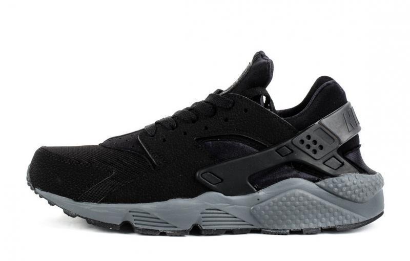 7ae1197b Кроссовки женские Nike Huarache Grey And Black найк хуараче черные ...