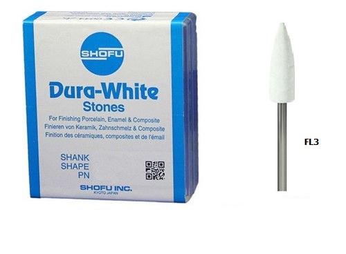 Shofu Dura-White FL3 (12 штук) шліфувальні камені для композитів і кераміки