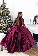 Вечернее женское платье в пол, цвета: черный, бордо, бирюза. Размеры: 42-44, 46-48., фото 1