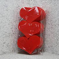 Набор сердец средние 15см толщ 1,6 см, набор 21 шт с покраской .