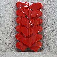 Набор сердец маленкие 9см толщ 1,6 см с покраской, набор 40шт.